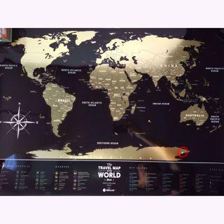 Outlet Mapa Zdrapka Travel World Black prezent dla podróżnika