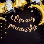 Baner na Wieczór Panieński Złoty dekoracje i prezenty na wieczór panieński