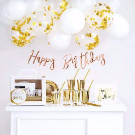 Zestaw Dekoracji Happy Birthday gadżety urodzinowe