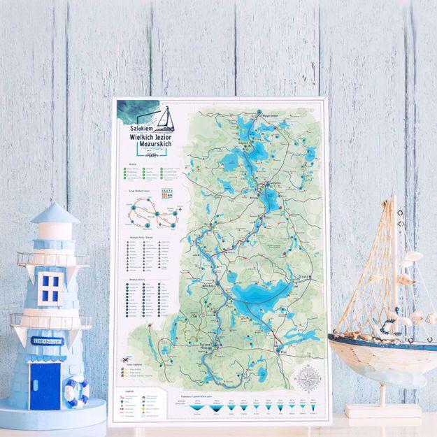 Mapa Zdrapka – Szlakiem Wielkich Jezior Mazurskich prezent dla dziewczyny