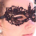 Koronkowa Maska Wenecka maski i przebrania na wieczór panieński