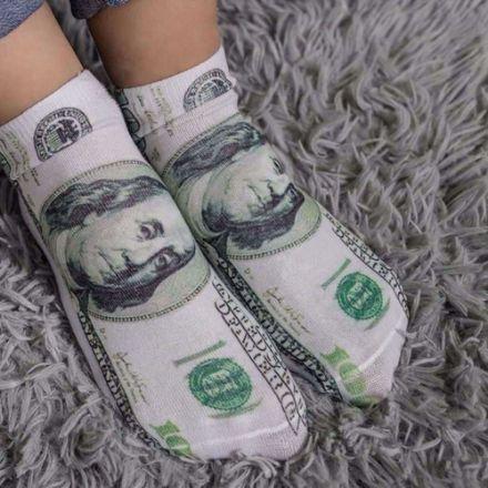 Skarpetki z motywem dolarów prezent dla brata