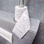 Papier Toaletowy Sudoku łamigłówki do rozwiązywania na tronie śmieszny prezent