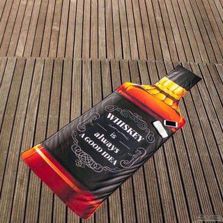 Butelka Whisky ręcznik sauna siłownia nietypowe dodatki