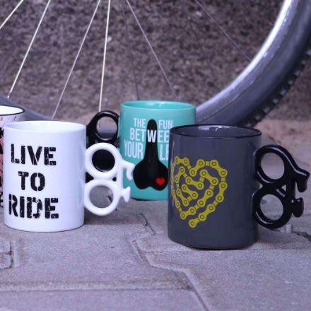 Kubek dla rowerzysty rower rączka