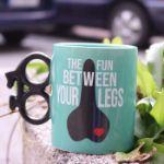 Kubek Rowerzysty - Przyjemność Między Nogami śmieszny kubek na prezent