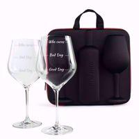 Etui na Wino z Kieliszkami prezent na zaręczyny
