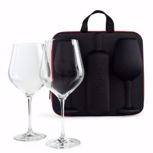 Etui na Wino z Kieliszkami diVinto Diamond prezent na rocznicę