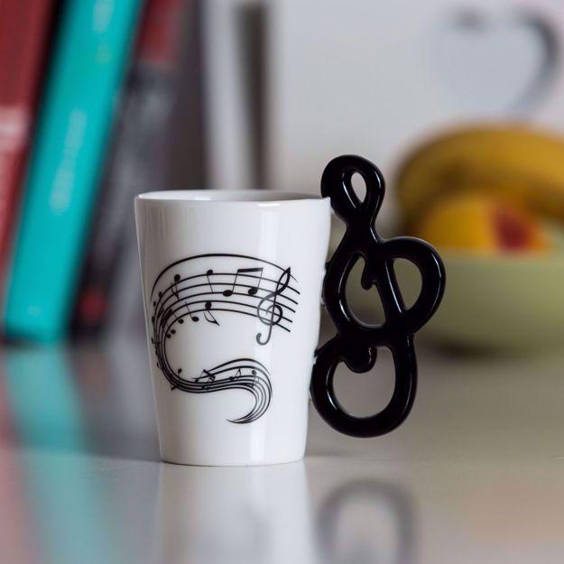 Kubek Muzyka - Wiolinowy Klucz prezent dla nauczyciela