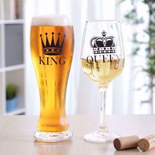 Zestaw dla Pary Queen & King– Kufel + Kieliszek prezent na walentynki