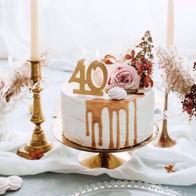 Świeczka Urodzinowa 40 gadżety urodzinowe