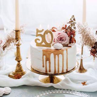 Świeczka Urodzinowa 50 dekoracje imprezowe