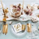 Świeczka Urodzinowa 50 dekoracje urodzinowe z 50