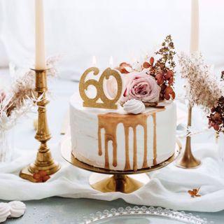 Świeczka Urodzinowa 60 dekoracje imprezowe