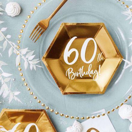 Talerzyki Urodzinowe 60 gadżety na imprezę urodzinową