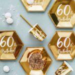 Talerzyki Urodzinowe 60 dodatki i dekorację na imprezę urodzinową