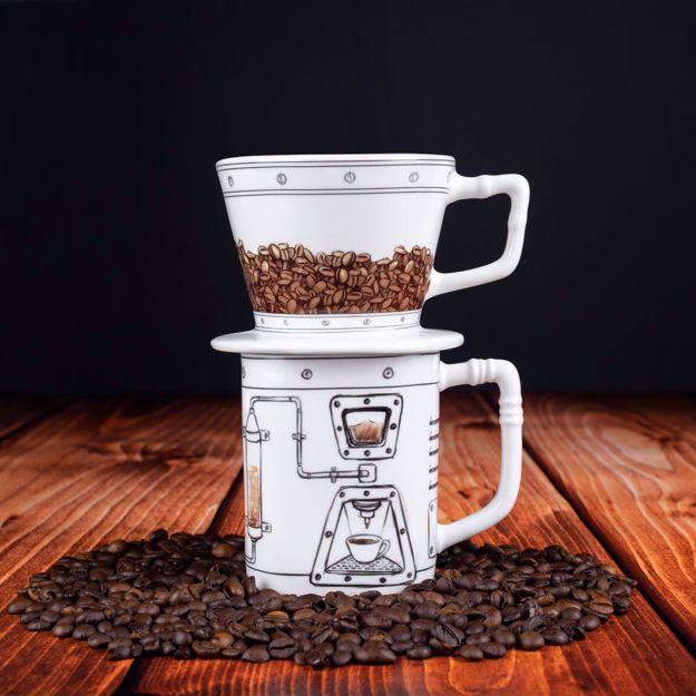 CoffeMachine - Dripper i Kubek do Kawy  kawa bez ekspresu