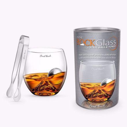 Szklanka do Whisky - On The Rock ze Stalową Kulą gadżety do spożywania whisky