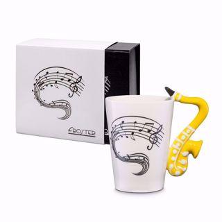 Kubek muzyka saksofon prezent dla niej warszawa
