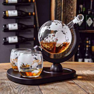 Karafka Globus ze Szklankami Deluxe prezent dla szefa