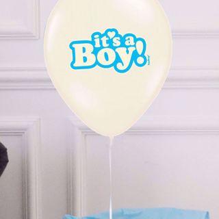 Balony It's a Boy 6 szt balony na baby shower