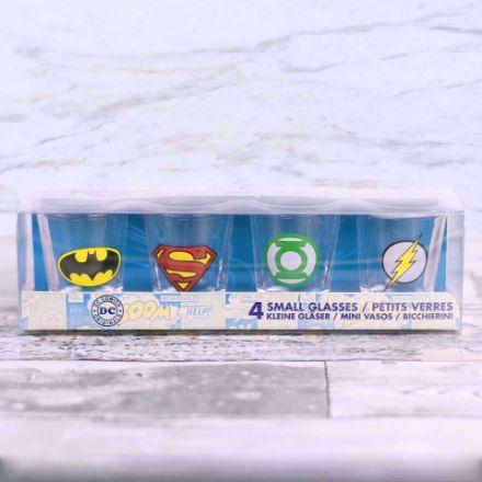 Outlet DC Comics - Kieliszki Superbohaterów - Symbole
