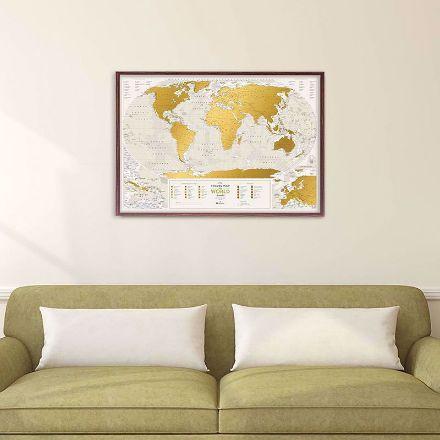 Mapa Zdrapka – Travel - Geography World prezent dla szefa