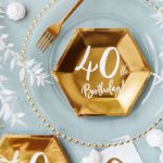 Talerzyki Urodzinowe 40 gadżety urodzinowe 40