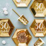 Talerzyki Urodzinowe 30 gadżety urodzinowe dekoracje
