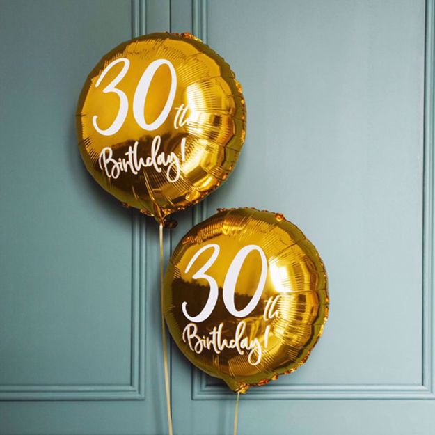Złoty Balon Foliowy 30 balony z helem sklep warszawa
