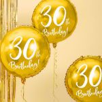 Złoty Balon Foliowy 30 dekoracje na 30 urodziny