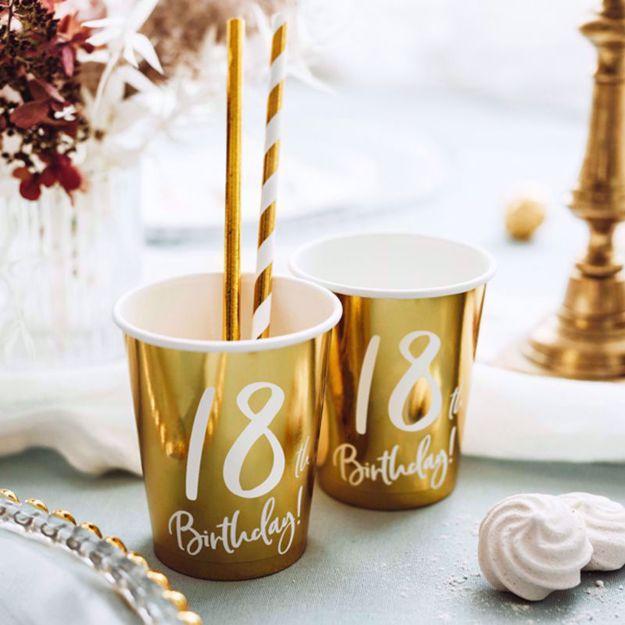 Kubeczki Urodzinowe 18 dekoracje na 18
