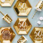 Kubeczki Urodzinowe 50 dekoracje  na urodziny