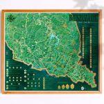 Mapa Zdrapka – Szlaki w Bieszczadach prezent na parapetówkę
