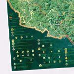 Mapa Zdrapka – Szlaki w Bieszczadach prezent dla mamy
