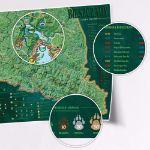 Mapa Zdrapka – Szlaki w Bieszczadach prezent dla brata