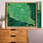 Mapa Zdrapka – Szlaki w Bieszczadach prezent dla siostry