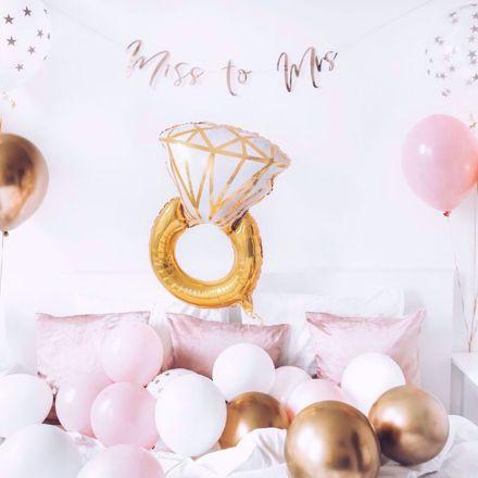 Balon Foliowy Pierścionek Zaręczynowy balony na zaręczyny warszawa