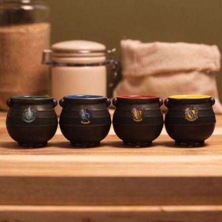 Harry Potter – Zestaw Kociołków do Espresso kociołki czterech domów Hogwart