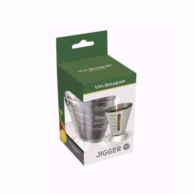 Vinbouquet Miarka Barmańska 75/15 ml metalowy jigger