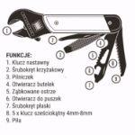 Multitool z kluczem Nastawnym – 9w1 praktyczny prezent
