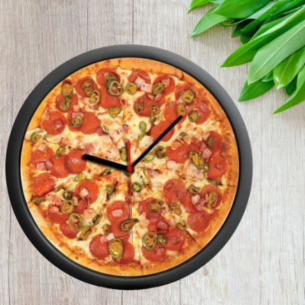 Zegar Pizza pizza clock