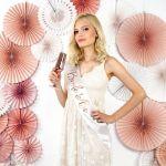 Szarfa Bride To Be – Różowe Złoto – Biała bride to be sash
