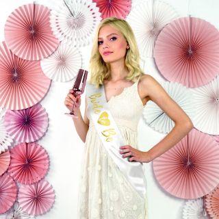 Szarfa Bride To Be – Serce – Złoto-Biała gadżety dla przyszłej panny młodej