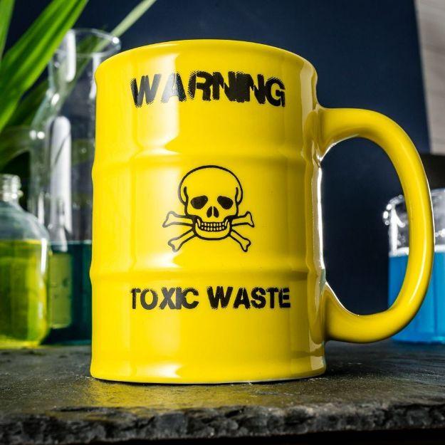 Kubek Toxic Waste żółty kubek beczka