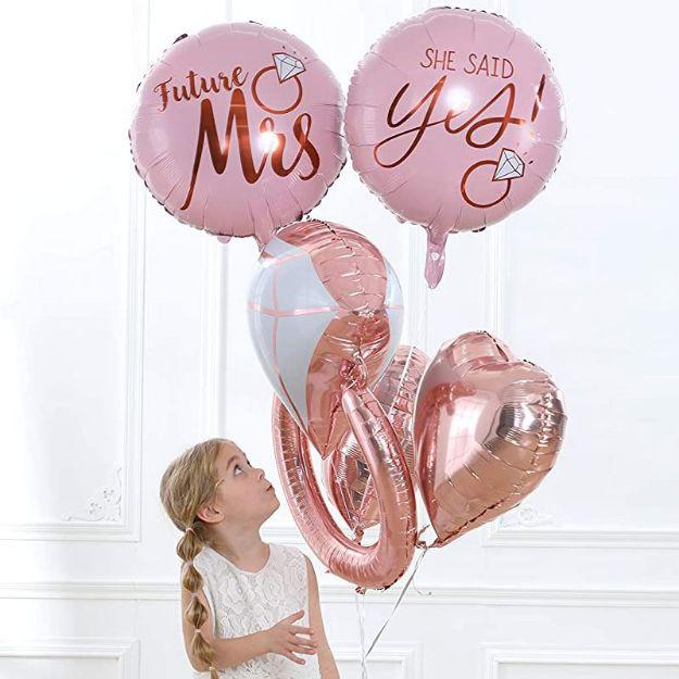 Zestaw Balonów Foliowych na Wieczór Panieński balony na hel na panieński