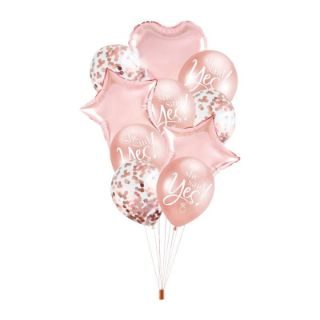Zestaw Balonów na Panieński – She Said Yes dekoracje na panieński