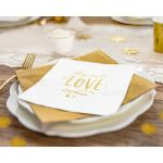 Serwetki – All You Need is Love dekoracje stołu na panieńskim