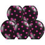 Balony – Różowe w Czarne Kropki dekoracje na panieński