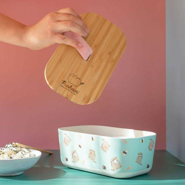Bambusowy Lunchbox Pusheen bambusowy pojemnik na jedzenie
